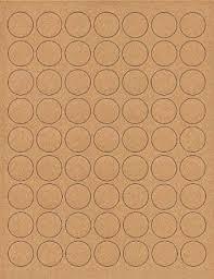 "(6 SHEETS) 378 1"" Blank Round Circle Brown <b>KRAFT Stickers</b>"