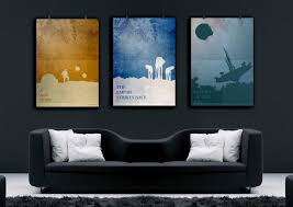 star wars art star wars poster set star wars print minimalist art poster unique birthday gift boyfriend home decor office artwork art force office decoration