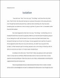 isolation essay descriptive and personal narrative on isolation this preview has intentionally blurred sections sign up to view the full version