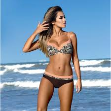 <b>Water Princess</b> Bikini 2017 Swimsuit Women Solid <b>Striped</b> Bandage ...
