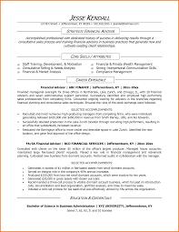 financial advisor sample resume financial statement form financial advisor resume sample by mplett