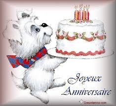 """Résultat de recherche d'images pour """"gif chien gratuit bon anniversaire"""""""