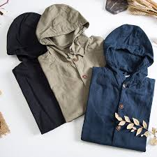 Mens Classic <b>Cotton</b> Linen Jackets Autumn Winter Fashion Clothing ...