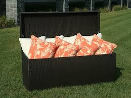 patio furniture freshly oiled francisco outdoor wicker storage box for patio furniture cushions