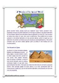 free esl wonders worksheets seven wonders of the ancient world