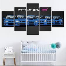<b>Hd</b> Prints Home Decoration Wall Art Modular <b>5 Pieces</b> Blue Cool ...