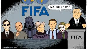 Cartoonist Jon Horner';s interpretation of the FIFA scandal.