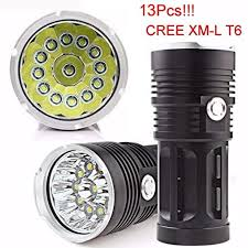 Flashlight ZYooh LED Flashlight Torch 4x 18650 Hunting Light ...