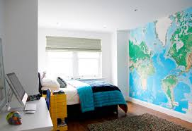 f entrancing global map bedroom wall decor inspiration features turquoise navy blue colored duvet cover and laminated wooden floor also beautiful white accessoriesentrancing cool bedroom ideas teenage