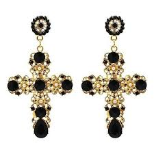 Baroque Cross Statement Earrings | Our Products in 2019 | Cross ...
