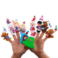 Bongles <b>Christmas</b> Finger Puppets Xmas Creative <b>Cartoon Santa</b> ...