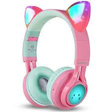 Riwbox Bluetooth Headphones, Riwbox CT-7 Cat <b>Ear LED</b> Light Up ...