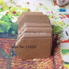 2016 <b>New</b> Hot Tag <b>200 pcs</b>/<b>lot</b> Scallop Kraft Blank Hang tag Gift tag ...