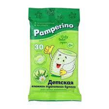 <b>Влажная туалетная бумага</b> Pamperino <b>Детская</b> с ромашкой и ...