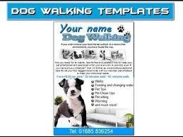 Leaflet template, Dog walking and Leaflets on Pinterest dog walking flyer leaflets templates