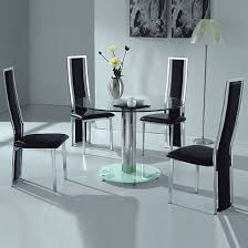 modern glass dining room tables small