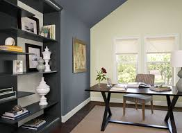 popular home office wall color blue home office