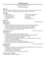 best forklift operator resume example livecareer choose
