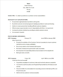 customer service resume template –   free samples  examples    customer service representative resume free download