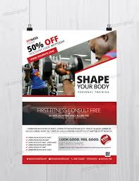 fitness and gym bie psd flyer template net fitness