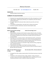 sample resume objectives medical assistant sample customer cover letter examples of resumes for medical assistants examples