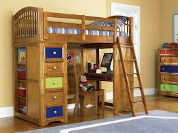 loft bunk beds with desk and drawers bunk beds desk drawers