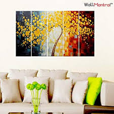 WallMantra ABC <b>Wall Painting</b> / <b>5 Pieces Canvas</b> Print <b>Wall</b> Hanging ...