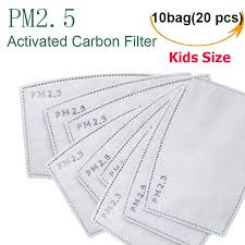 10 Bag/20 Pieces Activated Carbon Filter <b>KN95</b> Anti PM 2.5 for Kids ...
