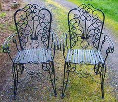 rod iron patio furniture vintage 1890s rare art nouveau victorian southern antique ornate wrought iron art deco outdoor furniture