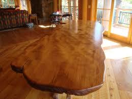 wood slab dining table beautiful: wood slab dining table large rustic curly redwood slab table with western cedar base