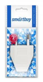 <b>Вилка Smartbuy</b>, плоская белая 2,5А 250В (<b>SBE</b>-<b>2.5</b>-<b>P06</b>-<b>w</b> ...