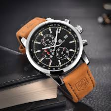 Fashion Chronograph Sport Mens Watches Luxury Quartz Watch ...