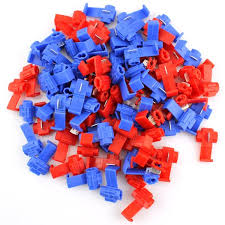 5 Pairs of Plastic <b>Low Loss</b> Line Clips Clamps (Red & Blue)-buy at a ...