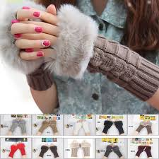Free UPS Ship 2016 <b>Lady</b> Winter Knitted Fingerless gloves <b>adult</b>