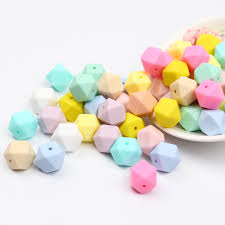 <b>TYRY</b>.<b>HU 20pcs 14mm Silicone</b> Beads Baby Teething Teether Bead ...