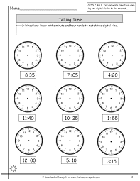 Free Math Printouts from The Teacher's Guidetelling time clock face Telling Time Worksheets