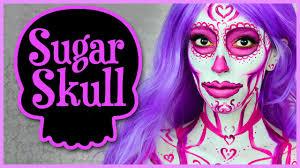pink sugar skull makeup tutorial