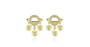 Korea Earrings for <b>Women</b> 925 Sterling Silver <b>Galaxy</b> Coment Star ...
