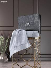 <b>Комплект полотенец с вышивкой</b> (50x90, 70x140) 3422 Siena Karna