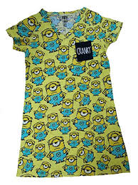 Despicable Me Minions All Over Yellow Nightgown ... - Amazon.com