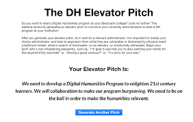developing a model highlights from dhsi 2015 diglibarts dh elevator pitch