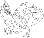 Раскраска дракон 3