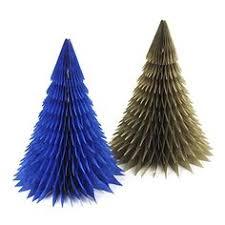 Handmade <b>Honeycomb Christmas</b> Trees Tissue Paper Trees ...