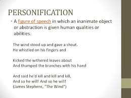 personification a figure of speech