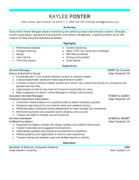 best intranet manager resume example livecareer create my resume