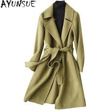 AYUNSUE <b>Double</b> Side Wool Coat Female Autumn Winter <b>2019</b> ...
