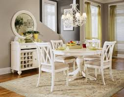 Distressed White Kitchen Table Dining Room Remarkable White Rectangle Dining Tables With Metal