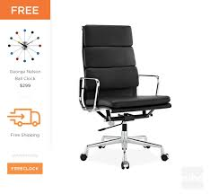eames soft pad executive office chair replica style 1 bedroomsweet eames office chair replicas style