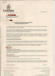 medical insurance truth about emirates airline management my termination letter