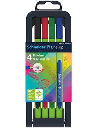 <b>Ручки капиллярные</b> (линеры) <b>Schneider Line</b>-<b>Up</b>, 4 штуки ...